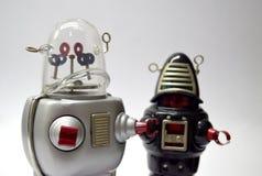 Cierre del juguete del vintage del robot para arriba imagen de archivo