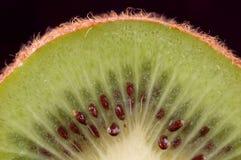 Cierre del kiwi de Cuted para arriba Imagen de archivo