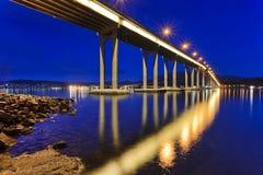 Cierre del lado del puente de Tasman fotos de archivo libres de regalías