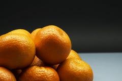 Cierre del manojo de la mandarina para arriba fotos de archivo libres de regalías