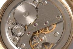 Cierre del mecanismo del reloj para arriba Foto de archivo libre de regalías