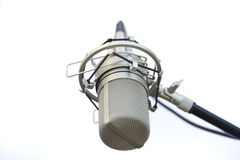 Cierre del micrófono Foto de archivo libre de regalías