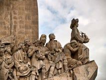 Cierre del monumento de Lisboa para arriba Imagen de archivo libre de regalías