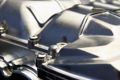 Cierre del motor automotriz para arriba imagen de archivo libre de regalías