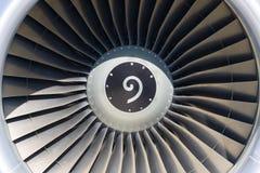 Cierre del motor de jet para arriba Imágenes de archivo libres de regalías