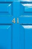 Cierre del número 41 de la puerta para arriba Imagenes de archivo