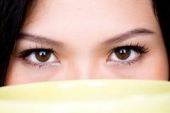 Cierre del ojo humano para arriba imagen de archivo libre de regalías