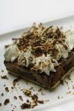 Cierre del postre del chocolate para arriba Fotografía de archivo