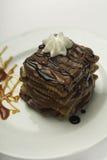 Cierre del postre del chocolate para arriba Imagen de archivo libre de regalías