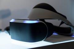 Cierre del producto de Morpheus de las auriculares de Sony VR para arriba Imagen de archivo libre de regalías