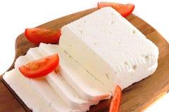 Cierre del queso de cabra para arriba Imágenes de archivo libres de regalías