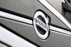 Cierre del símbolo de Volvo para arriba Imagenes de archivo