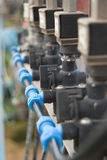 Cierre del sistema de irrigación para arriba Imágenes de archivo libres de regalías