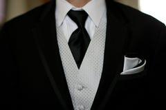 Cierre del smoking del novio para arriba Fotos de archivo libres de regalías