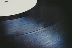 Cierre del surco del disco de vinilo del vintage para arriba Fotos de archivo