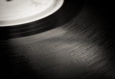 Cierre del surco del disco de vinilo del vintage para arriba Imagen de archivo libre de regalías