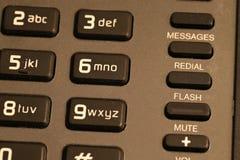 Cierre del telclado numérico del teléfono del hotel para arriba fotos de archivo libres de regalías