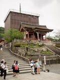 Cierre del templo de Kiyomizu para el mantenimiento Fotografía de archivo