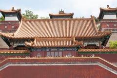 Cierre del templo del chino tradicional para arriba Imagenes de archivo