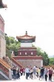 Cierre del templo del chino tradicional para arriba Imagen de archivo