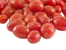 Cierre del tomate de la uva para arriba Imagen de archivo libre de regalías