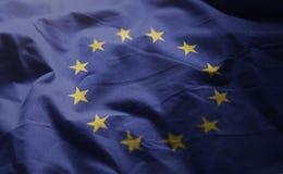 Cierre desgreñado bandera europea para arriba foto de archivo