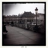 Cierre el puente en París Foto de archivo
