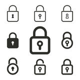 Cierre el sistema del icono stock de ilustración