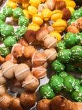 Cierre encima de la panadería colorida fotografía de archivo