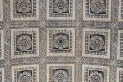 Cierre encima de los detalles Arc de Triomphe en París Foto de archivo