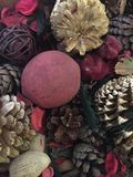 Cierre encima del pouri festivo del pote fotografía de archivo