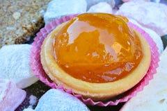 Cierre escarchado de la naranja para arriba Imagenes de archivo
