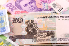 Cierre europeo del dinero para arriba Foto de archivo