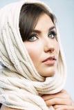 Cierre femenino del modelo del estilo de la belleza encima del retrato Fotos de archivo libres de regalías