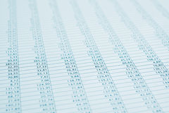 Cierre financiero del informe de los datos de asunto para arriba. Entonado. Imagen de archivo