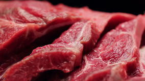 Cierre fresco de la carne de la carne de vaca para arriba