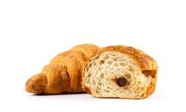 Cierre fresco del croissant para arriba fotografía de archivo