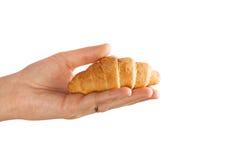 Cierre fresco del croissant para arriba fotos de archivo