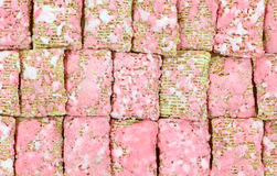 Cierre helado grueso del cereal del trigo para arriba Imagen de archivo libre de regalías