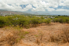 Cierre Honolulu del rastro de Diamond Head State Monument Park en Oahu ha Fotos de archivo