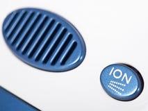 Cierre iónico del filtro del purificador del aire para arriba Imagen de archivo