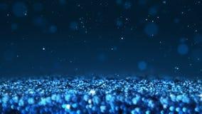 Cierre incons?til de la textura del extracto del lazo del brillo brillante azul encima del fondo macro stock de ilustración
