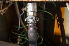 Cierre industrial de la columna del abastecimiento de agua de la bomba Foto de archivo