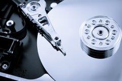 Cierre interior del tiro del estudio del mecanismo impulsor de disco duro para arriba Imagen de archivo