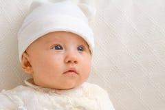 Cierre lindo del bebé para arriba Imagenes de archivo