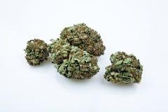 Cierre médico de la marijuana encima del detalle Imagen de archivo libre de regalías