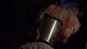 Cierre medieval de la justa del caballero para arriba metrajes