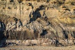 Cierre mesozoico del paisaje de la roca de la imagen geológica del detalle para arriba fotos de archivo