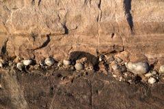 Cierre mesozoico del paisaje de la roca de la imagen geológica del detalle para arriba imagenes de archivo