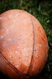 Cierre para arriba de un fútbol americano Fotografía de archivo